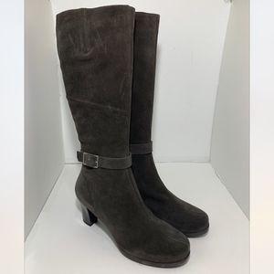 La Canadienne Knee High Waterproof Heels Boots 9.5